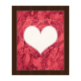 Heartbeat Red Framed Canvas Wall Art Print