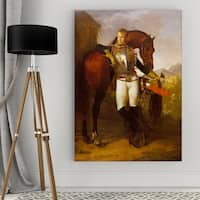 Jean Gros 'Second Lieutenant' Wrapped Canvas Art
