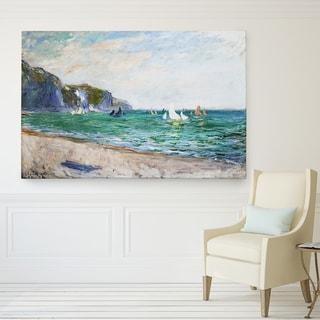 Wexford Home Monet 'Sailboats-Near-the-Sea' Canvas Wall Art