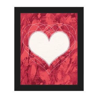 Heartbeat Red Framed Canvas Wall Art Print