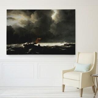 Wexford Home Jacob van Ruisdael 'Rough Sea' Canvas Giclee Print