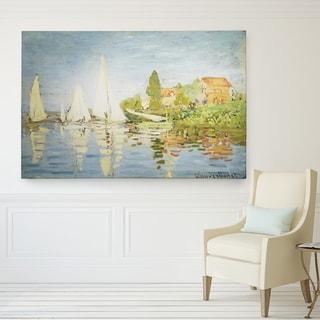 Claude Monet 'Regatta at Argenteuil' Wrapped Canvas Wall Art