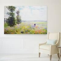 Wexford Home Claude Monet 'Poppy Field' Multicolored Canvas Artwork