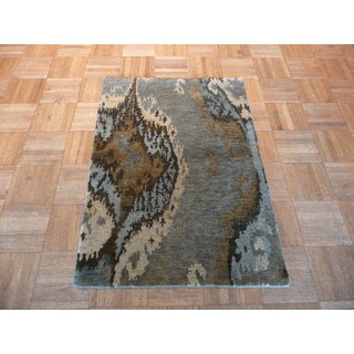 Hand-knotted Peshawar Multicolor Wool Oriental Rug (2' x 3')
