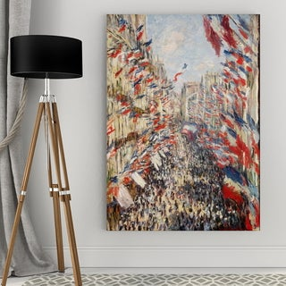 Claude Monet 'The Rue Montorgueil' Giclee Canvas
