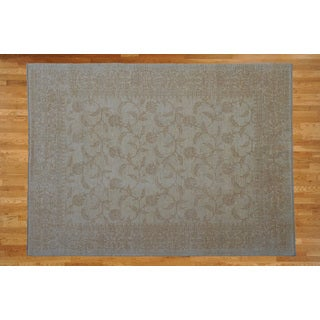 Hand Knotted Ivory Peshawar Ivory Hand-spun Wool Oriental Rug (8'3 x 9'11)