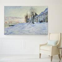 Claude Monet 'Sun and Snow' Canvas