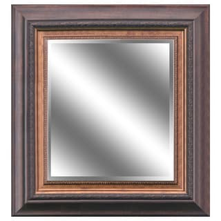 Y-Decor 'REFLECTION' 23 x 27 x 1-inch Bevel Mirror with 5-inch Warm Brown Bronze Color Frame