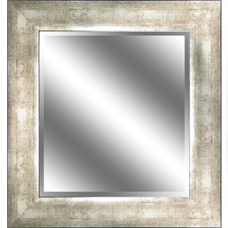 Y-Decor REFLECTION 23 x 27 x 1-inch Bevel Mirror with 3.75-inch Champagne Color Frame