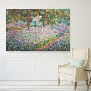 Claude Monet 'Irises in Garden' Wrapped Canvas Art