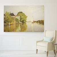 Houses on the Achterzaan Hand-wrapped Canvas Wall Art
