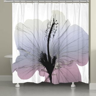 Laural Home Shades of Silver Lily Shower Curtain