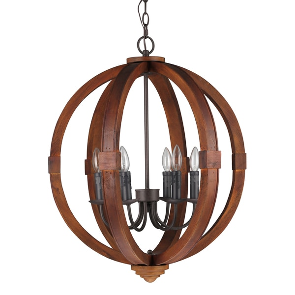 journee lighting. Journee Home \u0026#x27;Oran\u0026#x27; 28 In Wood 6 Light Hard Lighting 7