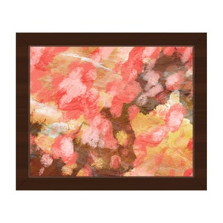 Emotion Pink Framed Canvas Wall Art Print
