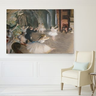 Degas 'Rehearsal-on-Stage' Premium Giclee Gallery Wrapped Canvas