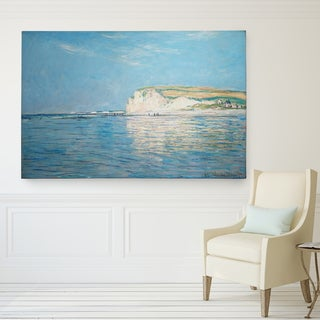 Claude Monet's 'Low Tide at Pourville' Gallery Wrapped Canvas Wall Art