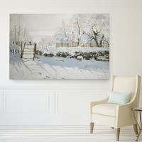 Wexford Home Claude Monet 'The-Magpie' Premium Giclee Gallery Wrapped Canvas