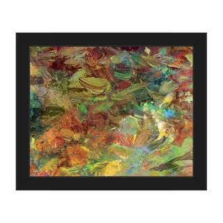 Amber Impasto Framed Canvas Wall Art Print