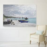Wexford Home Claude Monet 'The Beach' Wrapped Canvas Art