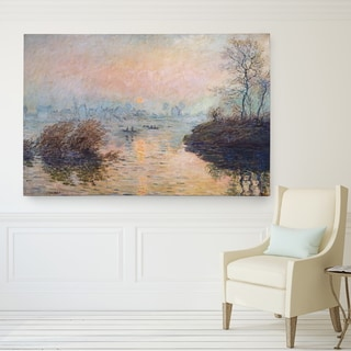Claude Monet 'Sunset on the Seine' Wrapped Canvas Art