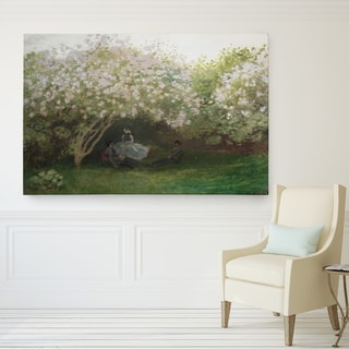 Wexford HOme Claude Monet 'Lilacs Grey Weather' Canvas Print