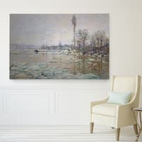 Wexford Home Claude Monet 'Breakup-of-Ice' Gallery-wrapped Canvas Art