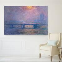 Claude Monet 'Charing-Cross Bridge' Wrapped Canvas Art