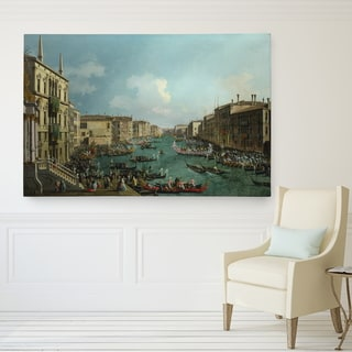 Regatta on Grand Canal Hand-wrapped Canvas Wall Art