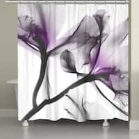 Laural Home Luminous Lavender X-Ray Shower Curtain
