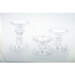 Candle Holder, Pillar & Taper, set of 3