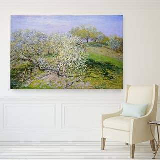 Wexford Home Apple-Trees-in-Bloom Canvas Wall Art