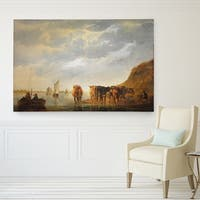 Wexford Home Aelbert Cuyp 'Herdsman with Five Cows' Giclee Gallery-wrapped Canvas Artwork