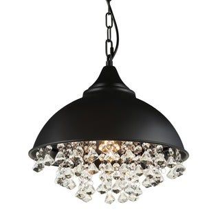 Journee Home 'Juxtaposition' 15 in Hard Wired Iron Dangling Crystal Pendant Light