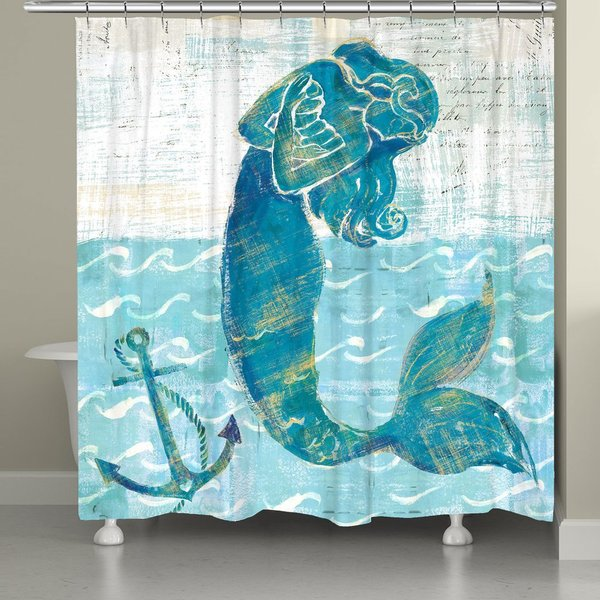 Shop Laural Home Vibrant Mermaid Shower Curtain