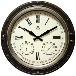 Infinity Instruments The Forecaster; a 16-inch Round Indoor/Outdoor Wall Clock