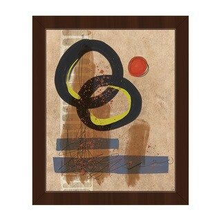 Exploding Tires Brown Framed Canvas Wall Art Print