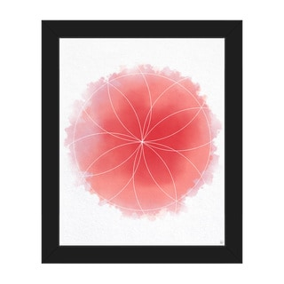 Red Watercolor Flower Framed Canvas Wall Art