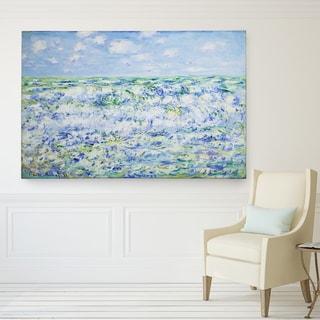 Claude Monet 'Waves Breaking' Canvas Wall Art