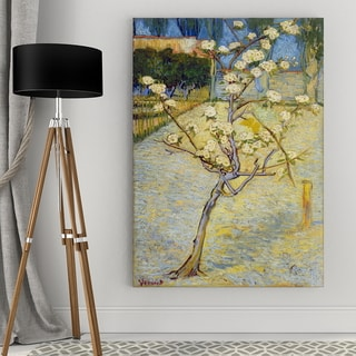 Vincent Van Gogh 'Blossoming Pear Tree' Wrapped Canvas Art