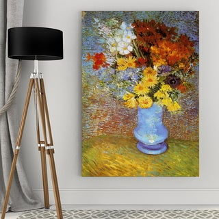 Vincent Van Gogh 'Vase of Flowers' Wrapped Canvas Art