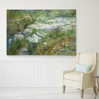 Wexford Home Childe Hassam 'The Water Garden' Hand-wrapped Glicee Canvas Art