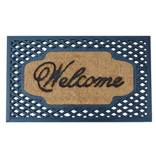 A1HC First Impression Welcome Rubber and Coir 23-inch x 38-inch Doormat