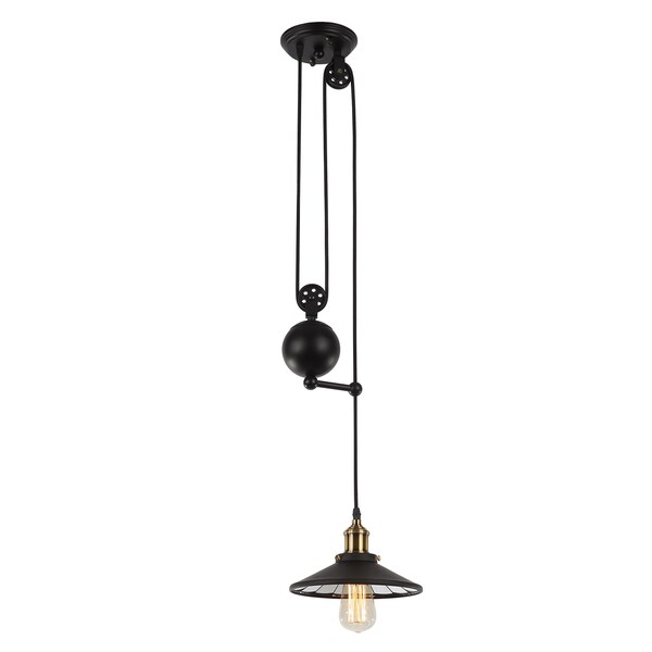 Journee Home 'Adelaide' Pulley Hard Wired Iron Pendant
