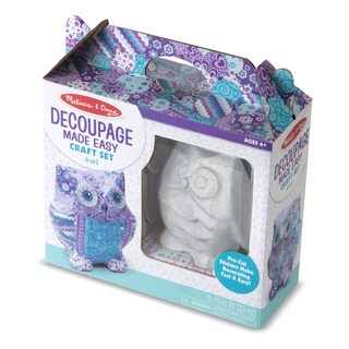 Melissa & Doug Decoupage Made Easy Owl Craft Set