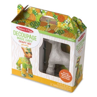 Melissa & Doug Giraffe Decoupage Made Easy Craft Set
