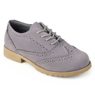 Journee Kids Boy's 'Zade' Lace-up Wingtip Oxfords