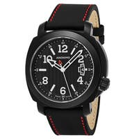 Anonimo Men's AM-2000.02.012.A01 'Sailor' Black Dial Black Leather Strap Swiss Mechanical Watch