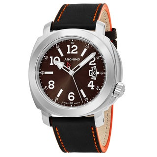 Anonimo Men's AM-2000.01.006.A01 'Sailor' Brown Dial Brown Leather Strap Swiss Mechanical Watch
