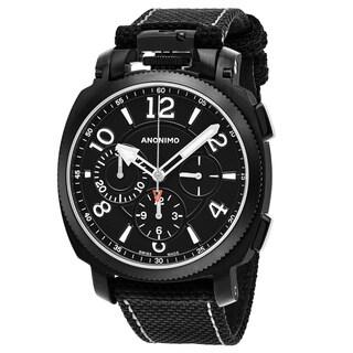 Anonimo Men's AM-1100.02.003.A01 'Militare' Black Dial Black Carbon Fiber Strap Chronograph Swiss Mechanical Watch