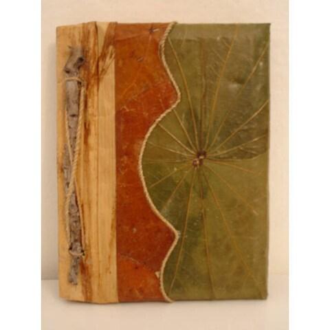 Handmade Lotus Leaves Checker Journal (Indonesia)